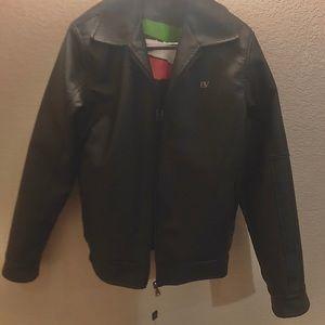 BV Clothing Leather Bomber Jacket.